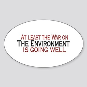 War on the Enviroment Oval Sticker