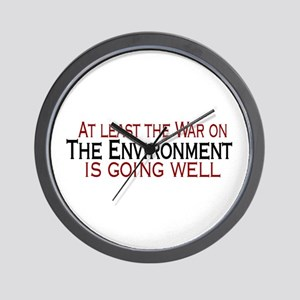 War on the Enviroment Wall Clock
