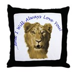 I Will Always Love You (alt) Throw Pillow