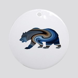 Midnight Bear Round Ornament