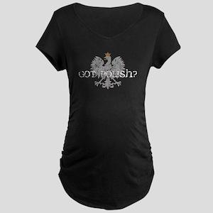 Got Polish? Maternity Dark T-Shirt