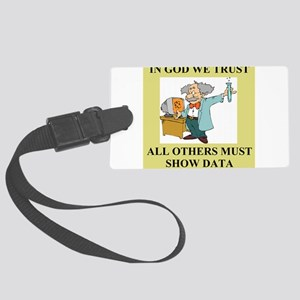 god and science joke gifts t-shirts Luggage Tag
