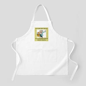god and science joke gifts t-shirts Light Apron