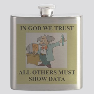 god and science joke gifts t-shirts Flask