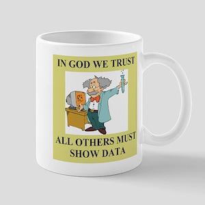 god and science joke gifts t-shirts Mugs