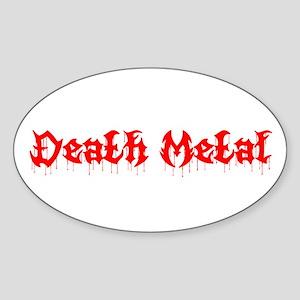 Death Metal Oval Sticker