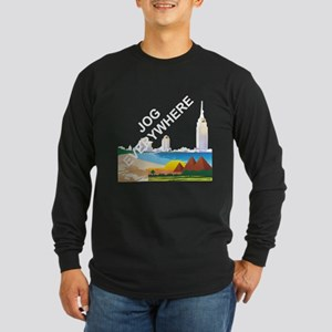 Jog Everywhere Long Sleeve Dark T-Shirt
