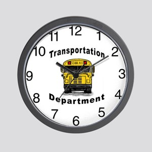 Transportation Department Wall Clock