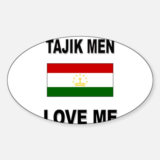 Tajik Men Love Me Oval Decal