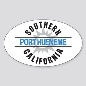 Port Hueneme California Oval Sticker