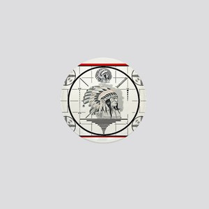 TV Test Pattern Indian Chief Mini Button