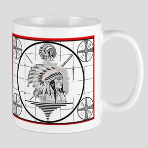 TV Test Pattern Indian Chief Mug