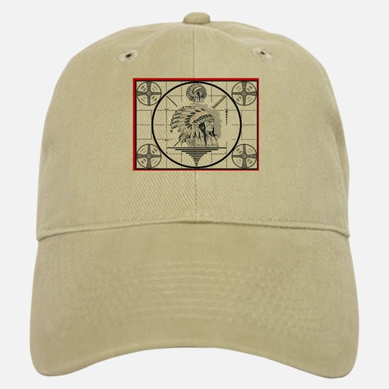 TV Test Pattern Indian Chief Baseball Baseball Cap