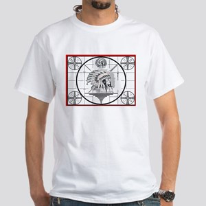 TV Test Pattern Indian Chief White T-Shirt
