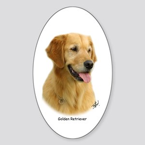 Golden Retriever 9K011D-08 Sticker (Oval)