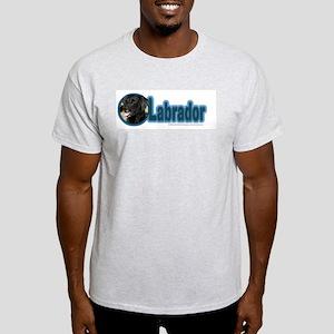 Black Labrador Ash Grey T-Shirt