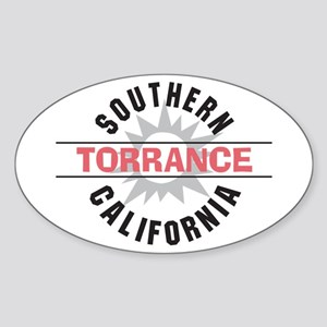 Torrance California Oval Sticker