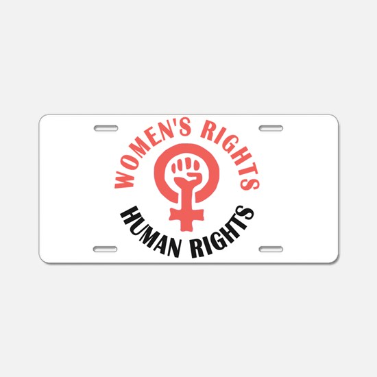 Womens March Aluminum License Plate
