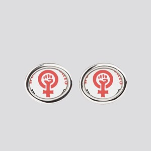 Womens March Oval Cufflinks