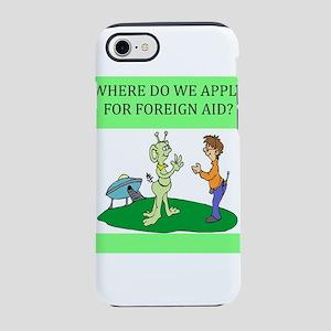 funny alien geek joke gifts t-shirts iPhone 8/7 To