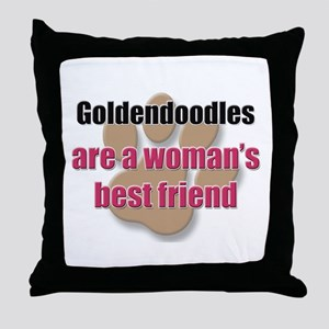 Goldendoodles woman's best friend Throw Pillow