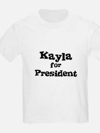 Kayla for President Kids T-Shirt