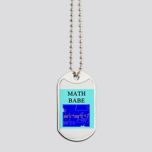 geek math woman gifts t-shirts Dog Tags