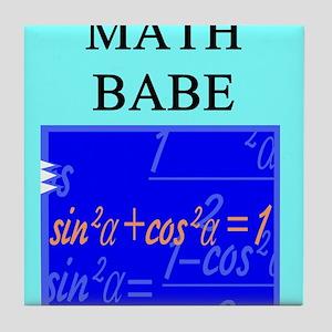 geek math woman gifts t-shirts Tile Coaster