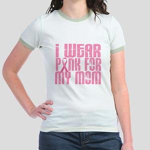 I Wear Pink For My Mom 16 Jr. Ringer T-Shirt