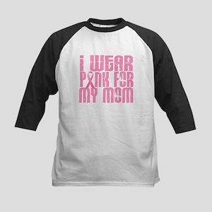 I Wear Pink For My Mom 16 Kids Baseball Jersey