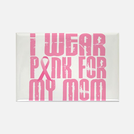 I Wear Pink For My Mom 16 Rectangle Magnet (10 pac