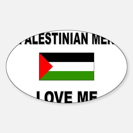 Palestinian Men Love Me Oval Decal
