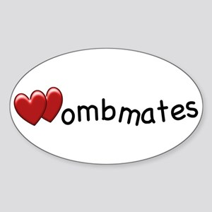 The Wombmates Oval Sticker