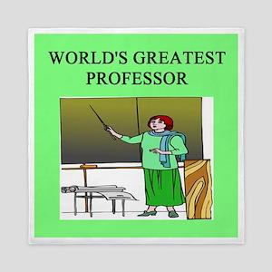 funny woman professor gifts t-shirts Queen Duvet