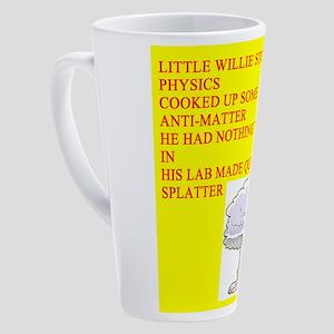 physics joke 17 oz Latte Mug