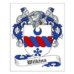 Wilkins Family Crest Small Poster