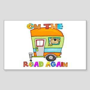 On the road again Sticker (Rectangle)