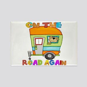 On the road again Rectangle Magnet