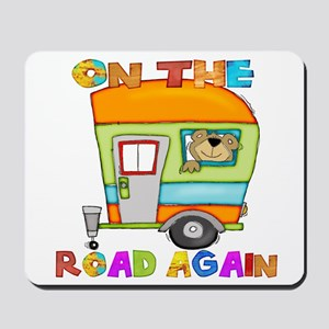 On the road again Mousepad
