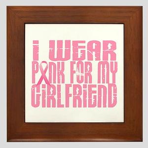 I Wear Pink For My Girlfriend 16 Framed Tile