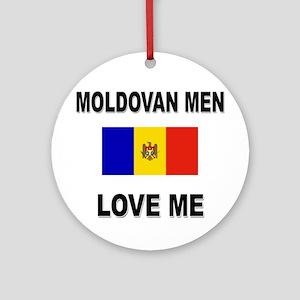 Moldovan Men Love Me Ornament (Round)
