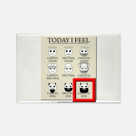 Today I Feel - Chaotic Evil Rectangle Magnet (10 p