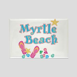Myrtle Beach Flip-Flops - Rectangle Magnet