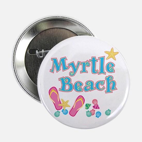 "Myrtle Beach Flip-Flops - 2.25"" Button (10 pack)"