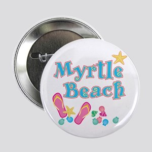 "Myrtle Beach Flip-Flops - 2.25"" Button"