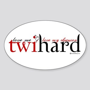 Twihard Oval Sticker
