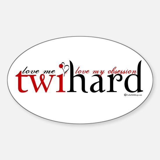 Twihard Oval Decal