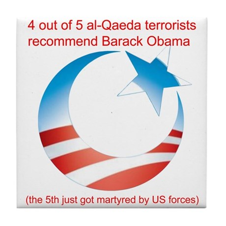4 out of 5 Terrorists Tile Coaster