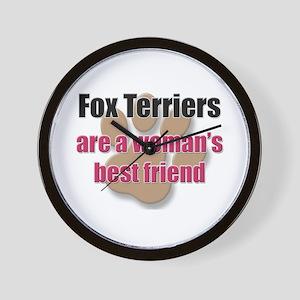 Fox Terriers woman's best friend Wall Clock
