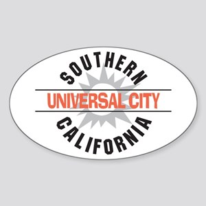 Universal City California Oval Sticker